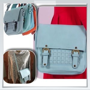 Handbags - GLACIER BLUE SQUARE CROSSBODY HANDBAG